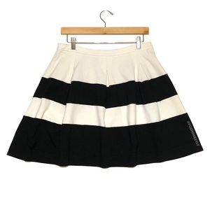 Express Striped Pleated Skirt